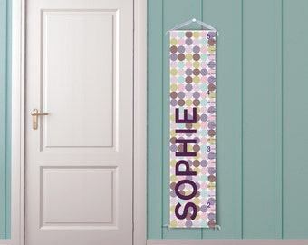 Modern Multi-Color Polka Dots - Personalized Growth Chart