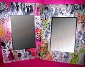 Framed Mirror 15X20 Frederick's Pinup Girl Collage 1950s 1960s Lingerie Vanity Decor