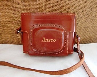 VINTAGE ANSCO CAMERA In Leather Case VInatge Camera Photographer Camera in Case
