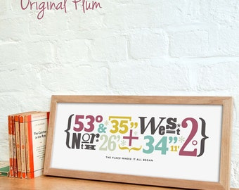 Personalized Coordinates Print