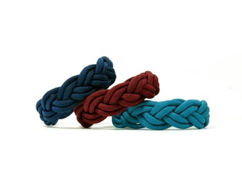 Pick Your Color, Rich Colors, Turks Head Sailor's Paracord Rope Bracelet, Nantucket Beach, Traditional Nautical, Ship Knot Braid, Summer