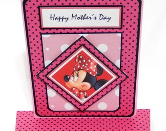 Minnie Mouse Inspired Mother's Day Card with Matching Embellished Envelope