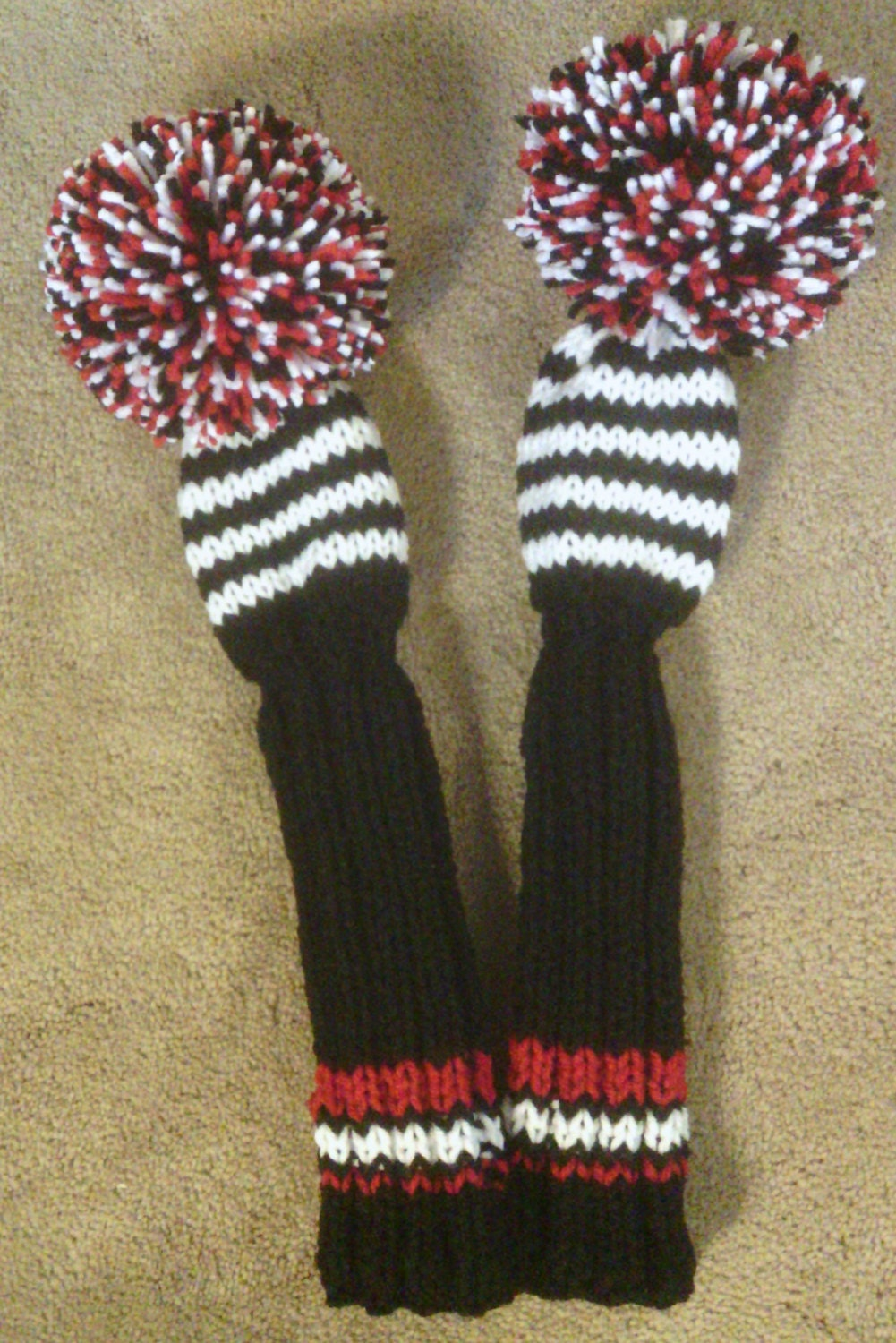 Golf Club Head Covers Hand Knit