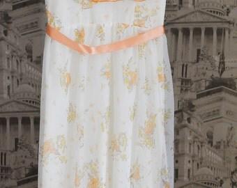 Girls Dress, Flower Girl Dress, Girls Vintage Dress, Bridesmaid Dress, Girls Party Dress, Girls Maxi Dress