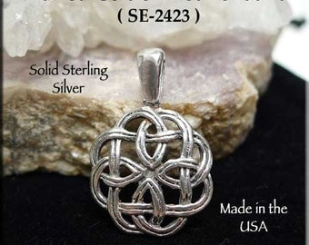 Sterling Silver Celtic Knot Pendant, Celtic Necklace, .925 Sterling Celtic Pendant, Celtic Jewelry - SE-2423