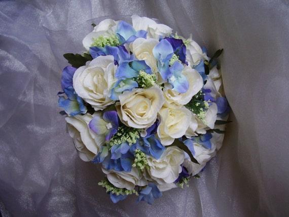 Bouquet Ortensie E Orchidee : Bouquet sposa vintage bellissima avorio artificiale delle