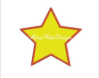 Star Machine Embroidery Design Star Applique Design Instant Download
