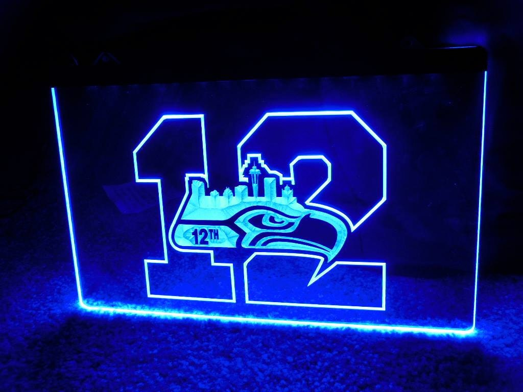custom seattle seahawks neon acrylic led signs by 1stopfanshop