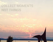 Collect Moments, Seattle Sculpture Park, Typography, Sunset