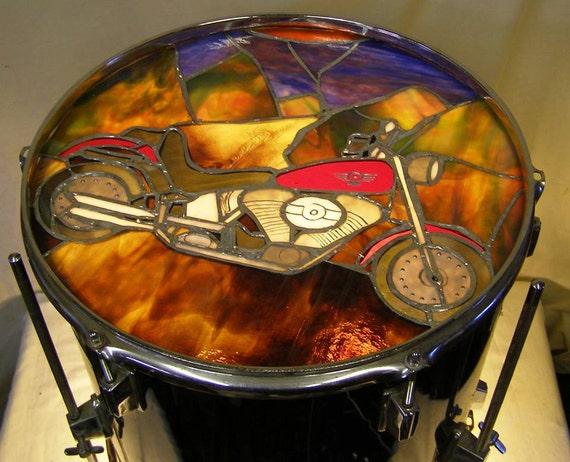 Vitrail Lampe Harley Davidson