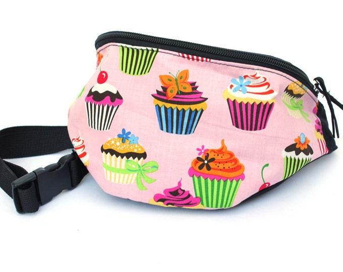 Fanny pack Pink Cupcake fabric - Cute  - Hip Waist Bag
