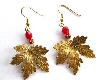 Joy - Maple Leaf Earrings