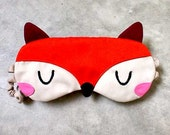 Sleep Eye Mask - The Fantastic Fox (Orange Burgundy)