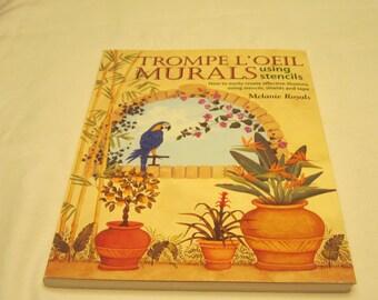 Book Trompe L'oeil Murals using stencils by Melanie Royals
