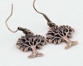 Tree of Life Copper Earrings