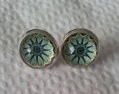 Mandala   Silver Post  Stud Earrings.  Earrings. Handmade Jewelry.