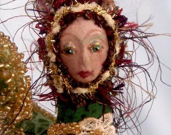 "CAPRICORN- ZODIAC Art  Doll- One Of A Kind, 20 cm (8"") Tall, Cloth Dolls, Astology, star signs, Home decor, gift ideas, Michelle Munzone"