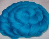 TEAL, super soft merino felting wool, spinning fiber, 20 micron, wet/nuno/needle felting wool, dolls hair, dreads, merino combed top, 3.5oz