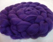 DEEP PURPLE, merino wool roving, spinning fiber, super soft, 20 micron, merino felting wool, wet/nuno/needle felting wool, dolls hair, 3.5oz