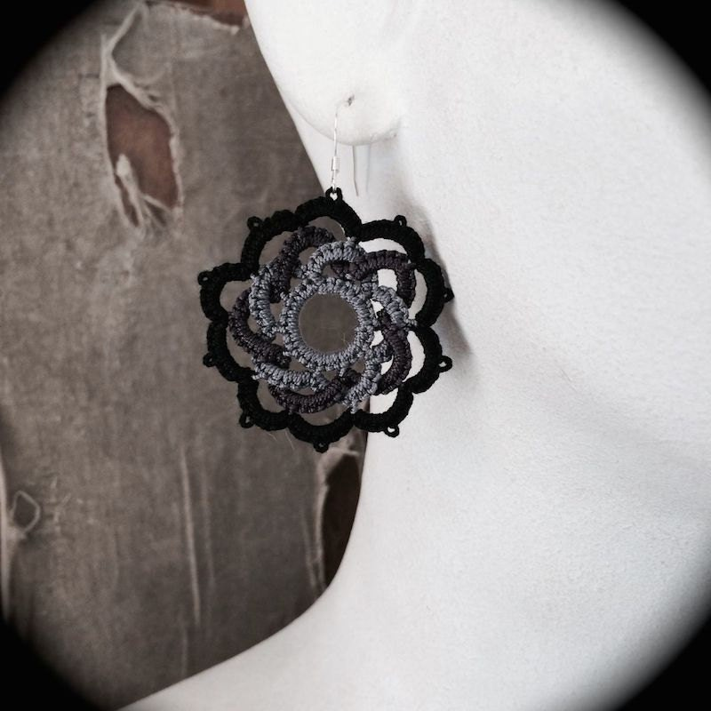 https://www.etsy.com/listing/192911412/tatted-lace-earrings-woven-rose-gray-and?