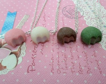 Pick Your Flavor: Mochi Ice Cream Necklace,  Miniature Food Jewelry, Polymer Clay Food Necklace