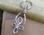 Celtic Loops Aluminum Key Chain, Light Weight Wire Keychain,  Christmas Gift Key Ring, Accessories, Unisex Key Fob, Celtic Knot Accessory
