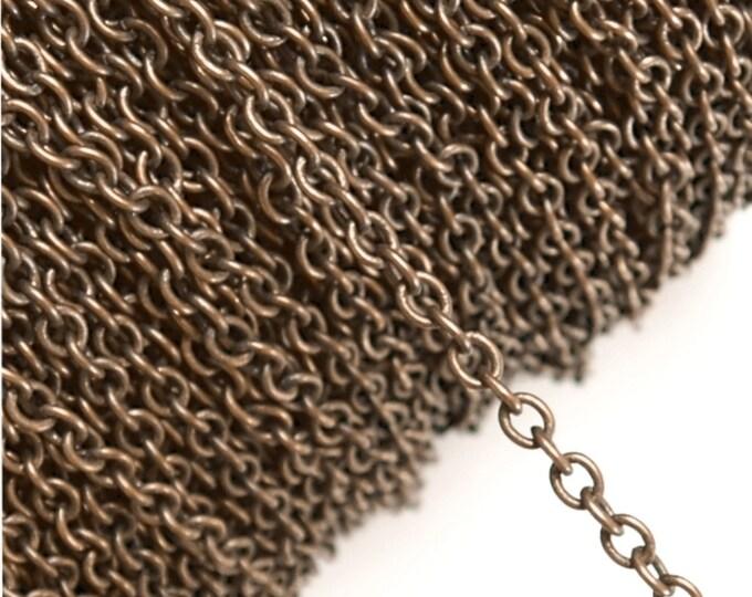 CHIAC-CA40 - Chain, Cable 4mm, Antique Copper - 1 Meter