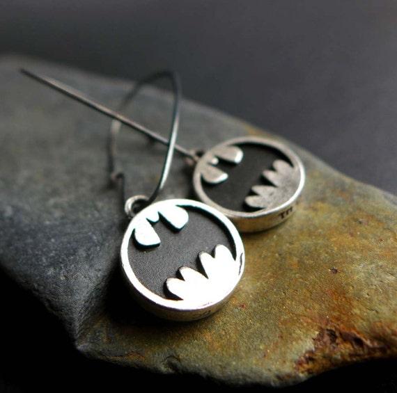 Batman Earrings DC Comics Logo