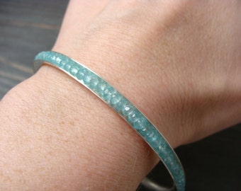 skinny apatite gemstone bangle