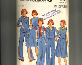 Butterick Misses' Jacket, Vest, Skirt and Pants Pattern 4660