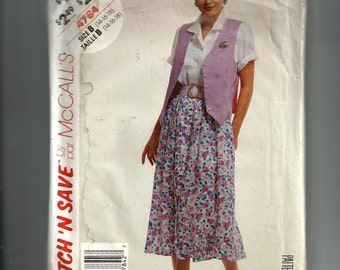 McCall's Misses' Blouse, Vest, and Skirt Pattern 4784