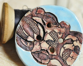 Brand new lace & glazes...she is a sew on button