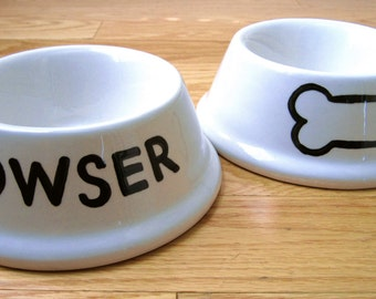 Dog Bowl small size Customize with your saying and type personalized ceramic dish