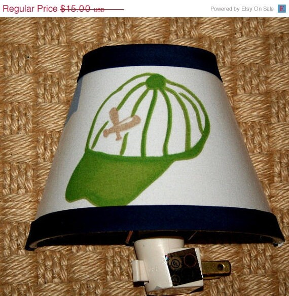 ON SALE Nightlight Kids Junior Varsity My Favorite Sports handmade with Pottery Barn Kids Fabric