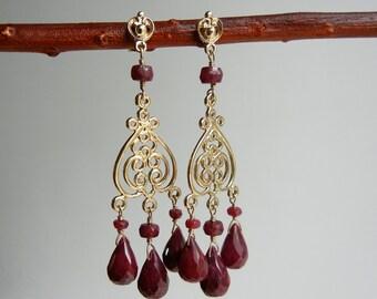 Ruby Arachne Earrings