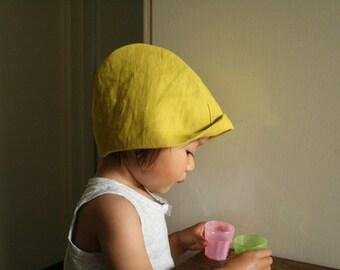 CHILDREN'S LINEN HAT / toddler / girls hat / boy / unisex / sun hat / beanie / linen cloche / eco friendly / made in australia / pamelatang