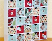 Red and Aqua Advent Calendar  H1005
