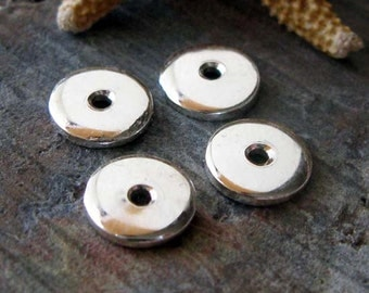 Tiny sterling silver artisan handmade bead caps. AGB quality jewelry findings 6mm Danai 2 pieces. Made to order.