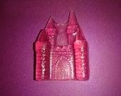 4 Pink Fairy Tale Castle Glycerin Soaps