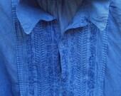 Custom Dyeing in Indigo:  Shirts & Tunics