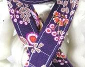 Lanyard Badge Holder with Breakaway Clip Purple Bouquet