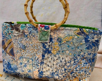 Little Blue Patchwork Purse