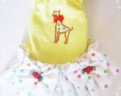 Dog Dress Fancy Giraffe or Elephant Dog clothes Yorkie Maltese Chihuahua CKC Spaniel Pretty Dog T Shirt Dress