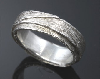 Sterling Silver Grass Leaf Ring by Cavallo Fine Jewelry