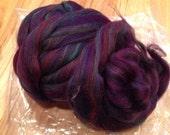 Purple Wool Roving Destash