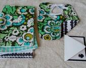 Green floral gift set