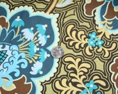 Amy Butler Belle Line - Gothic Rose Turquoise - quilt weight fabric - 1 full yard