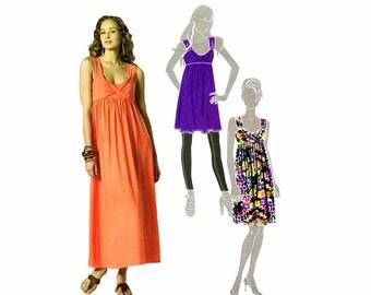 Misses Front Drape Tunic Dress McCalls 6072 Sewing Pattern Size 6-8-10-12-14 Bust 30 1/2 - 31 1/2 - 32 1/2 - 34 - 36 Uncut