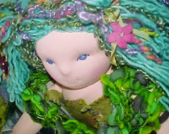 "Muirgen, a 28"" Mermaid Waldorf Doll, custom order"