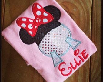 Minnie Epcot Appliqué Tshirt
